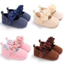 Baby Shoes Female Treasure Princess Shoes Flower 0-1 Soft Bottom Toddler  Shoes Girls Solid 278a06df3db9
