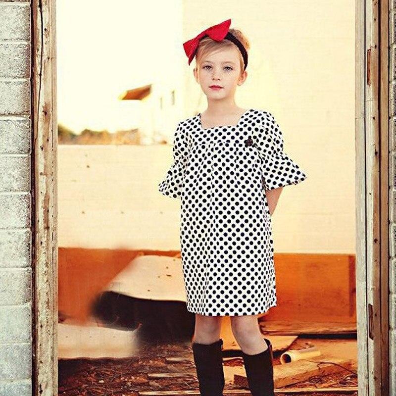 Осеннее платье в горошек