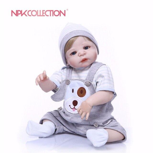 NPK Reale 57 CENTIMETRI di Corpo Pieno di Silicone Ragazzo Reborn Neonati Orso Giocattoli Bambola Della Principessa Bambini Parrucca della Bambola Regalo Di Compleanno per bambini Brinquedos