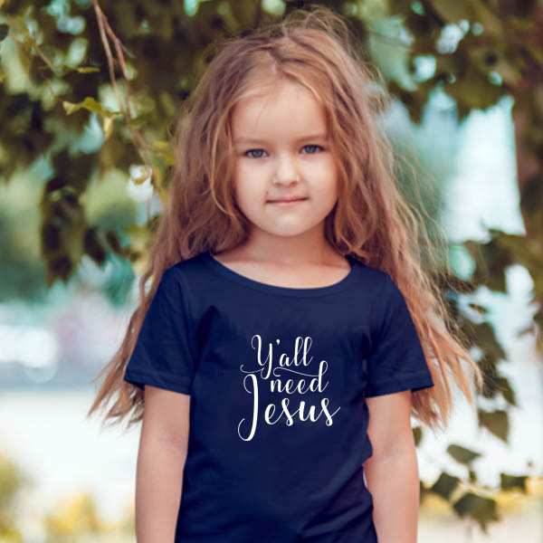Jesus Children Shirt Girls Boys Fashion Clothing Tees Tops Letters-Print Baby Summer