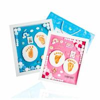 32 x 37 x 6cm Baby Hand And Foot Printing Mud Baby Photo Frame Souvenir Gift Box Set DIY Clay Color Mud