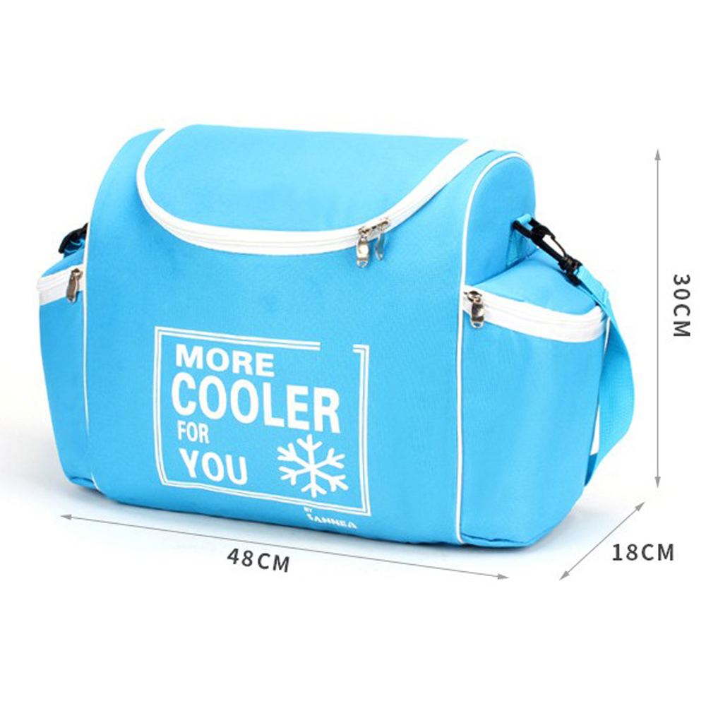 24 L 600D Waterproof Lunch Bag Oxford Ice Pack Insulated Lunch Cold Storage Bags Fresh Food Shawl Picnic Insulation Package ...