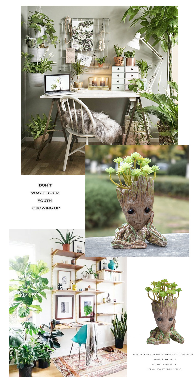 Baby Groot Flower Pot Suitable for Living Room Bed Room and study Room for Full Greenery in House 8