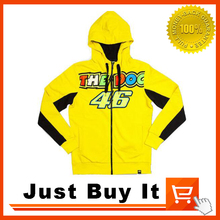 Great Quality 2016 New pattern Yellow Valentino Rossi VR46 MOTO-GP Cotton Sweater Hoodie sweater leisure motorcycle clothing