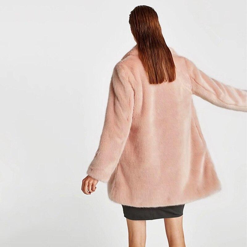 À Plus De Longues Manches Faux Femmes Rose Taille Manteau Fausse 2018 Luxe Hiver Manteaux Fourrure Veste 3xl Femme La Dames 5qOxwtS0t