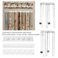 Fashion Jewelry Necklace Ring Earrings Accessory Stand Display Jewellery Organizer Holder Wall Hanging Display Hanger Hook Rack(China)