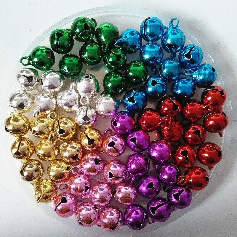 100pFactory Direct Sale 10mm Colorful Jingle Bells Key ...