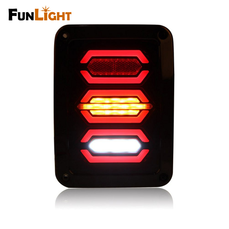Американское издание LED задний хвост свет комплект для Jeep вранглер JK 07-16 задние фонари тормозной обратного свет заднего включите Сингал лампы