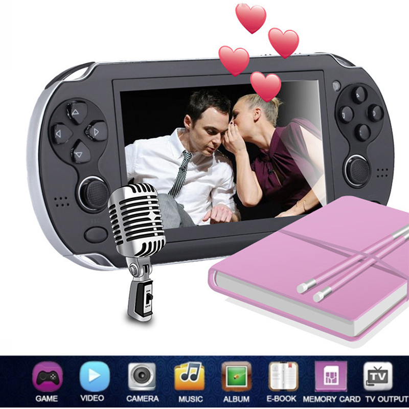 New 2018 Mp5 8g Handheld Game Player Large Screen Portable