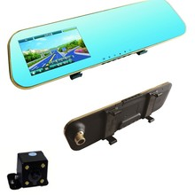 On sale 4.3inch Blue Car Backup Rear view rearview Camera Auto Parking Car DVRs Cars vehicle Mirror Parking Full HD Digital Video