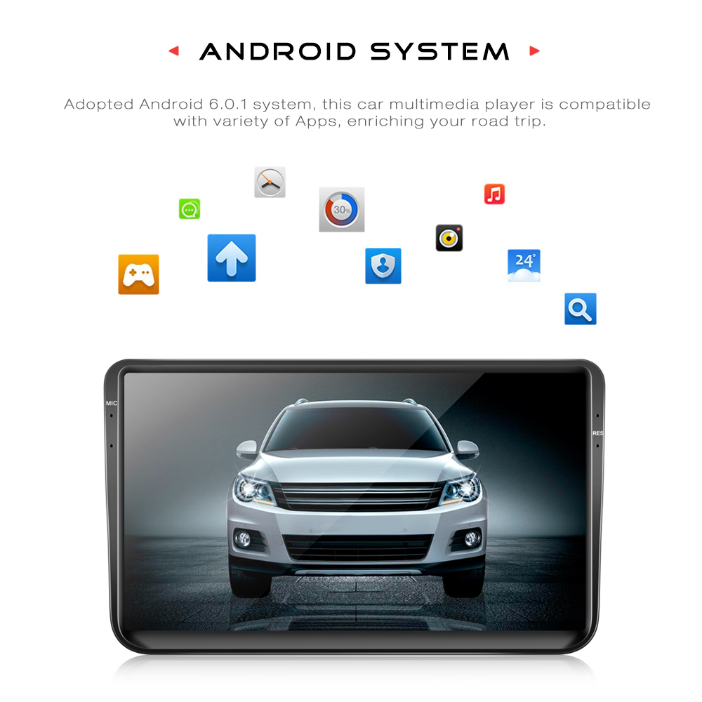 9001 Android GPS WiFi Car Multimedia Player for VW Bluetooth Mirror Link 2 Din 9 inch Car Radio Player Support Steering wheel amprime 9 car radio gps android 9 wifi fm mirror link 2 din touch screen car multimedia player audio player autoradio for vw