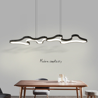 Black or White Modern LED Simple Pendant Lights For Living Room Kitchen Dining room Lustre Pendant Lamp Hanging Ceiling Fixtures