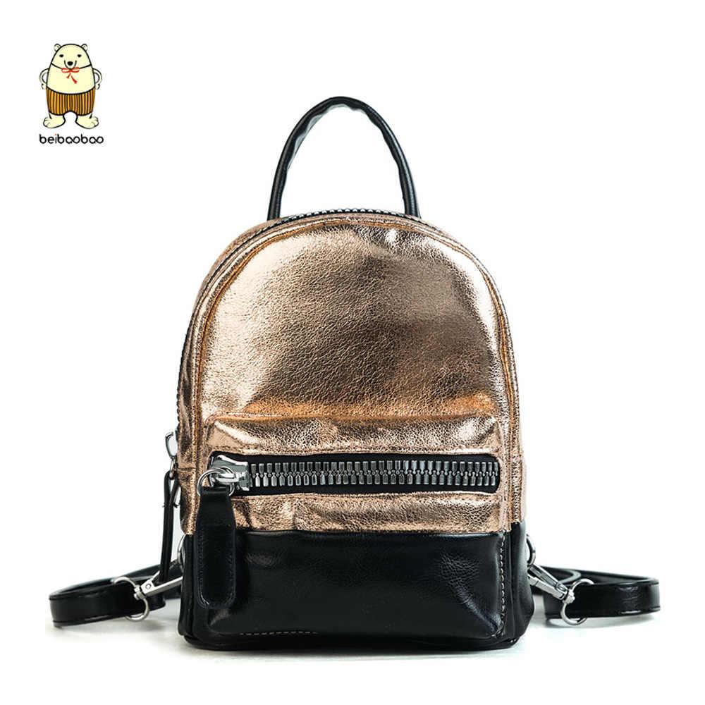 Beibaobao Brand 2019 Fashion Backpacks Light Pu Leather Daypack Luxury School  Bags For Girls Nice Female bb37751fa6ff1