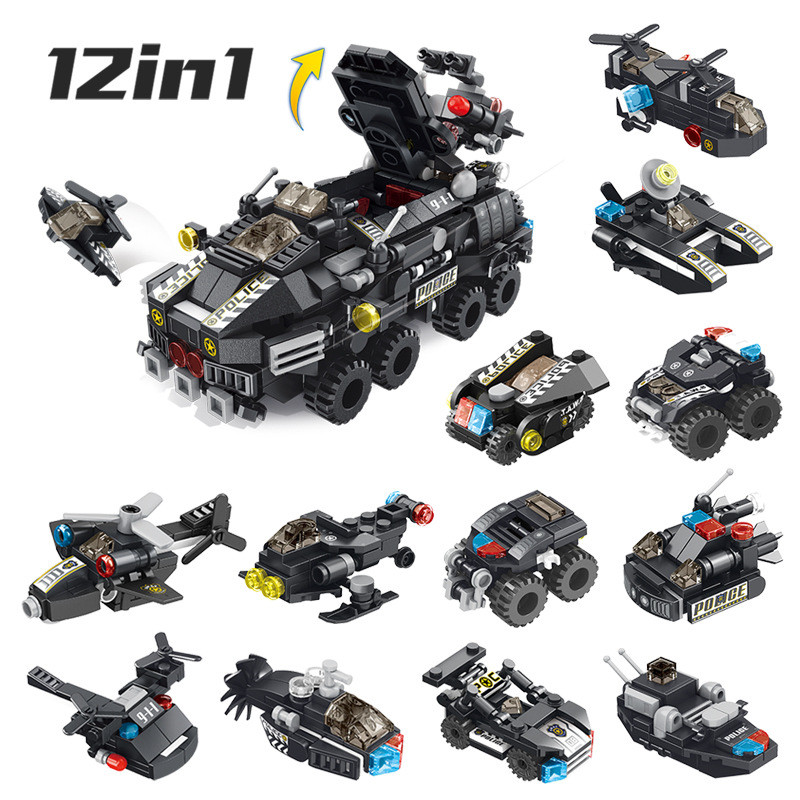 12-In-1-Legoings-Transformation-Engineering-Vehicle-Military-DIY-Model-Building-Blocks-Kit-Education-Puzzle-Toys (2)