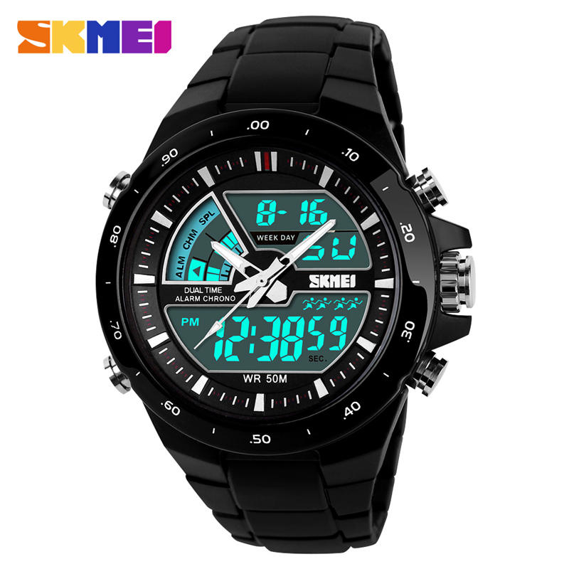 Swim Sports Watch 50m Waterproof Male Watches Japan Quartz Clock Electronic Display Outdoor Product Fashion Color Men SKMEI 1016