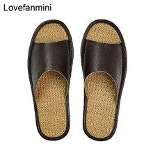 หนังวัวแท้รองเท้าแตะคู่ Indoor Non SLIP ผู้ชายผู้หญิงหน้าแรกแฟชั่น Casual รองเท้า TPR นุ่มฤดูใบไม้ผลิฤดูร้อน 510 M
