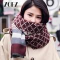 Za Cachecol de Inverno/echarpe & Cachecóis Hijab 2016 Cachecol de Lã Cashmere Mulheres de Luxo Da Marca Tarja Cobertor Envoltório Xailes do Pashmina ZO16C020