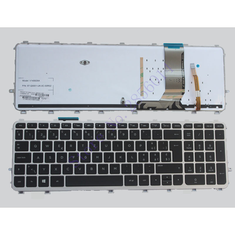 Switzerland Laptop keyboard for HP envy 15 J 15T J 15Z J 15 J000 15t j000