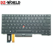 Новая Оригинальная английская клавиатура с подсветкой для ноутбука Lenovo Thinkpad E480 E490 T480S L480 T490 T495 L380 L390 Yoga L490 P43s