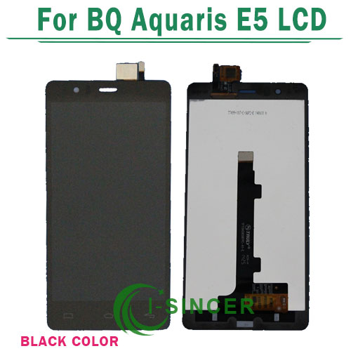 ФОТО 100% Tested For BQ Aquaris E5 LCD Display Screen Touch Digitizer Assembly Black 5k0760 Version Free Shipping