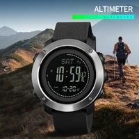 SKMEI 1418 sport mężczyźni kobiety zegarki wspinaczka wysokość ciśnienia kompas krokomierz stoper elektroniczny zegarek Relogio Masculino w Zegarki cyfrowe od Zegarki na