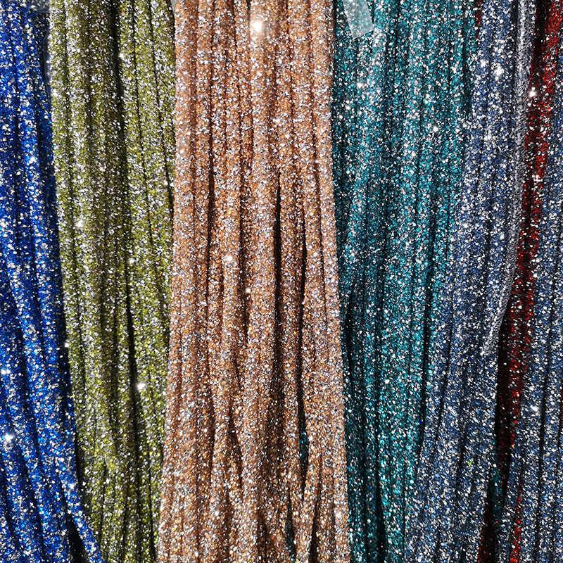 CJSIR 1 חצר צבעים ריינסטון שרשרת עבור בגדי נעלי חתונה שמלת כלה לקצץ DIY מלאכות אספקה Weding אבזרים