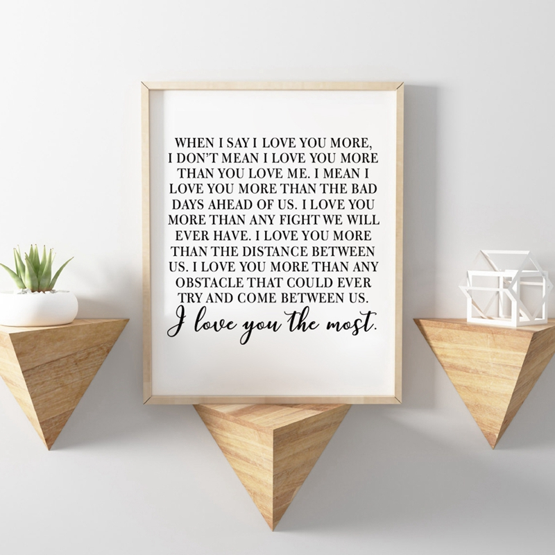 Gift For Fiance On Wedding Day: Wedding Shower Gift For Fiance & Wife Canvas Poster Art