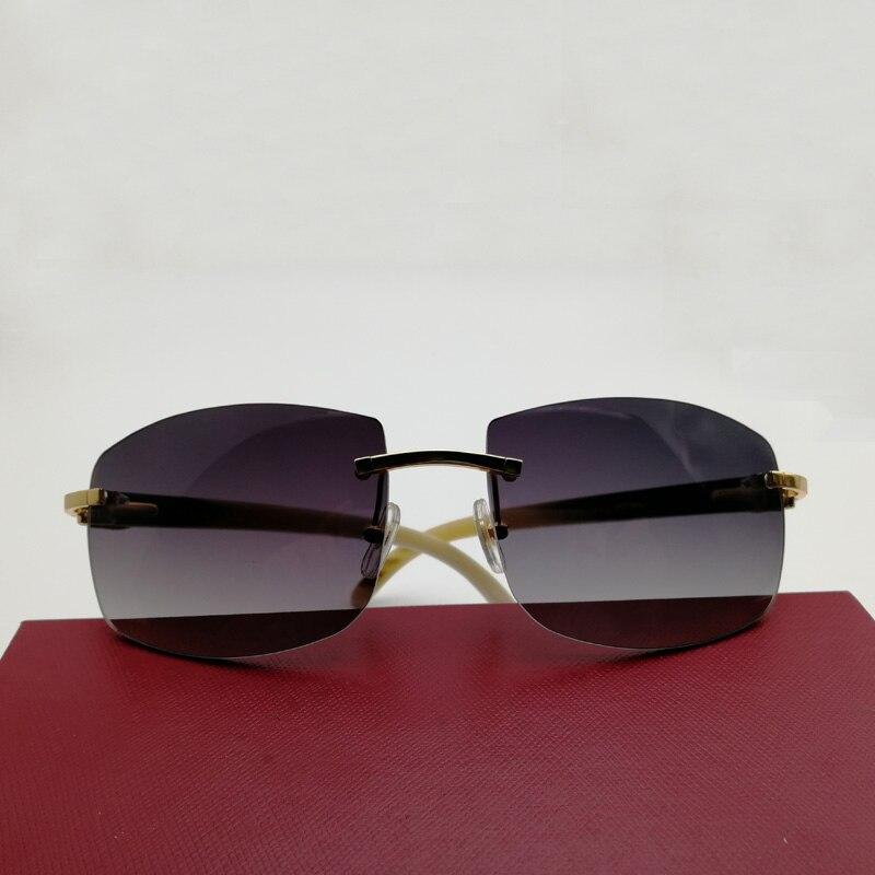 Compre Vintage Oversize Preto Mix Branco Búfalo Chifre Óculos De Sol ... 45e97b4b35