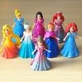 8 pçs/set Crianças da minha bonitinha Anna e Elsa Conjunto de Brinquedo bonecos de ação poni para crianças pouco presente do feriado do aniversário brinquedos de vinil boneca