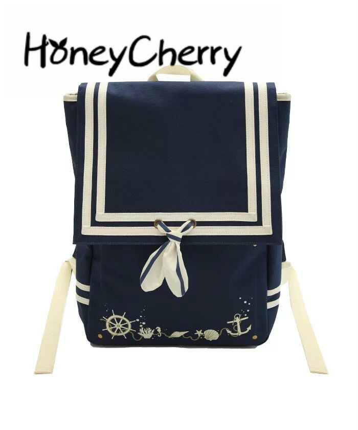 Navy Style Bow Adornment Marine Elements Backpack Japanese Ladies Bag ,cosplay Girl Bag ,Cut School Backpack