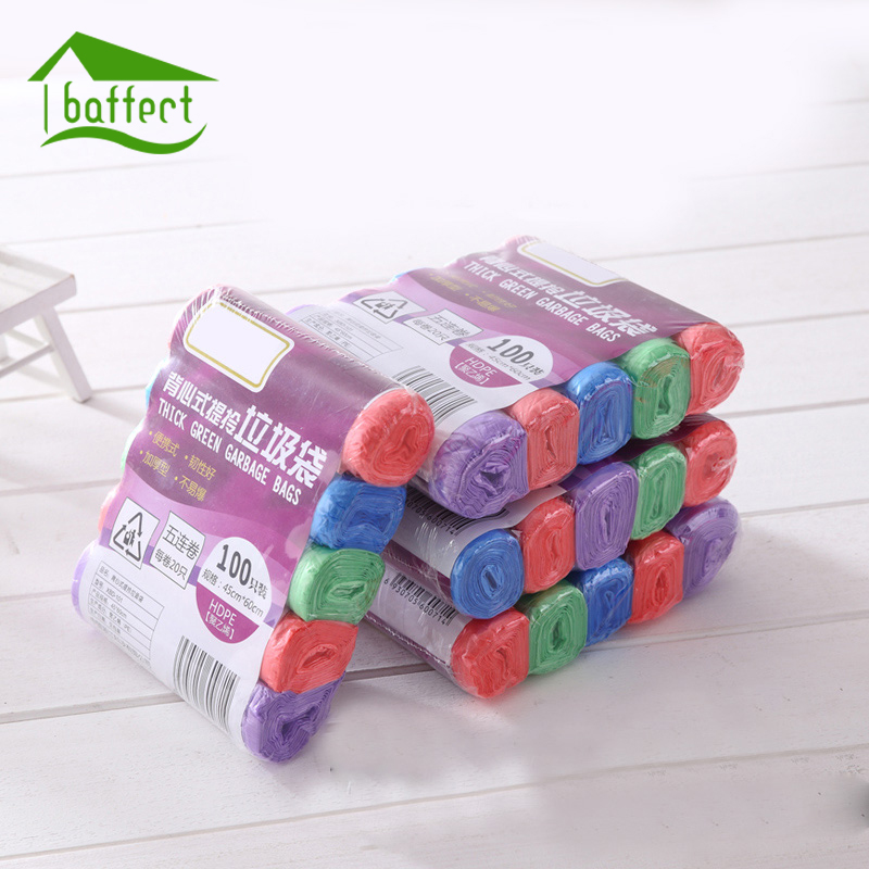 5rolls(30pcs/roll) Good Quality Thicken Kitchen Trash Garbage Bags Rubbish Bucket Trash Can Household Cleaning Tools 45x55cm