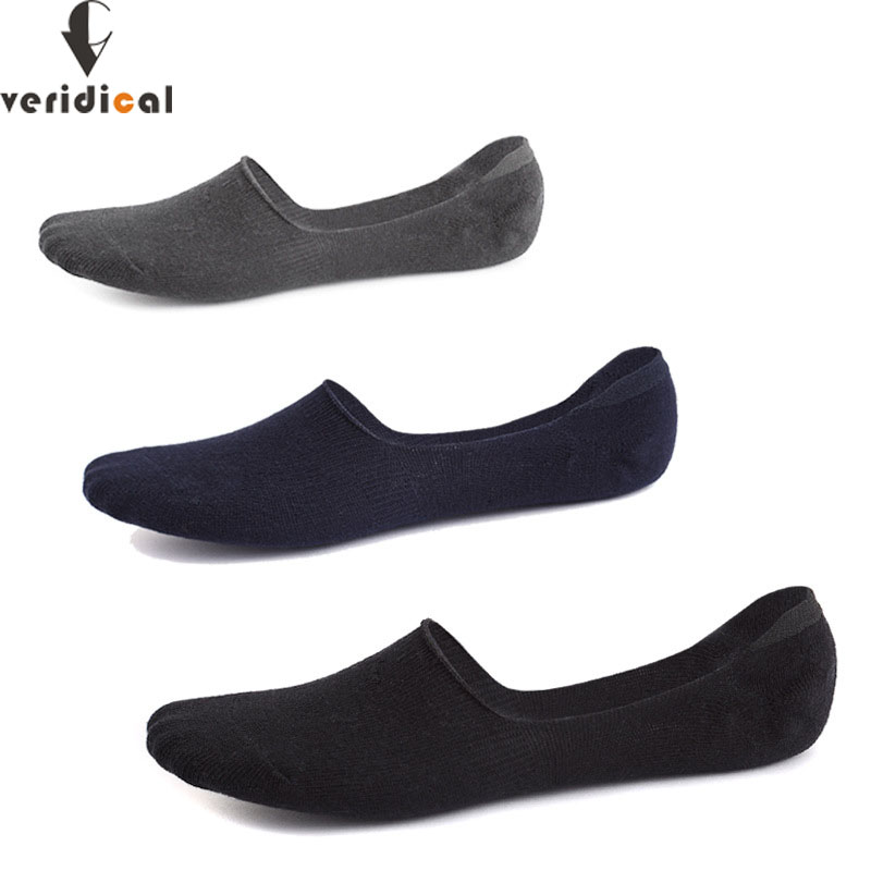 New Fashion Veridical Invisible Sock Mens Cotton 5 Pairs/lot Summer Non-slip Silicone Ankle Socks Male Boy Breathable Meias Masculino Solid Underwear & Sleepwears