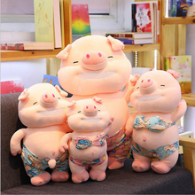 New Creative Funny Lovely Beach Pig Plush Toys Stuffed Animal Soft Doll Toy Children Gifts Adults Gift