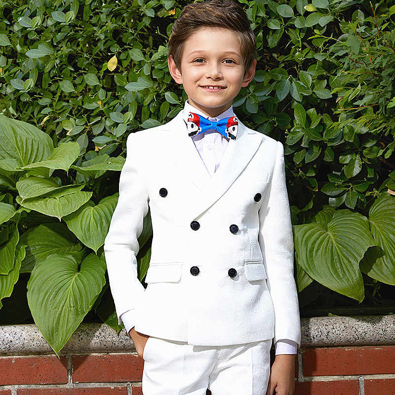 b3edd97dc1d596 ... Kids Children White Formal Boys Wedding Tuxedo Suits boy Blazer Suit  Mariages Perform ...