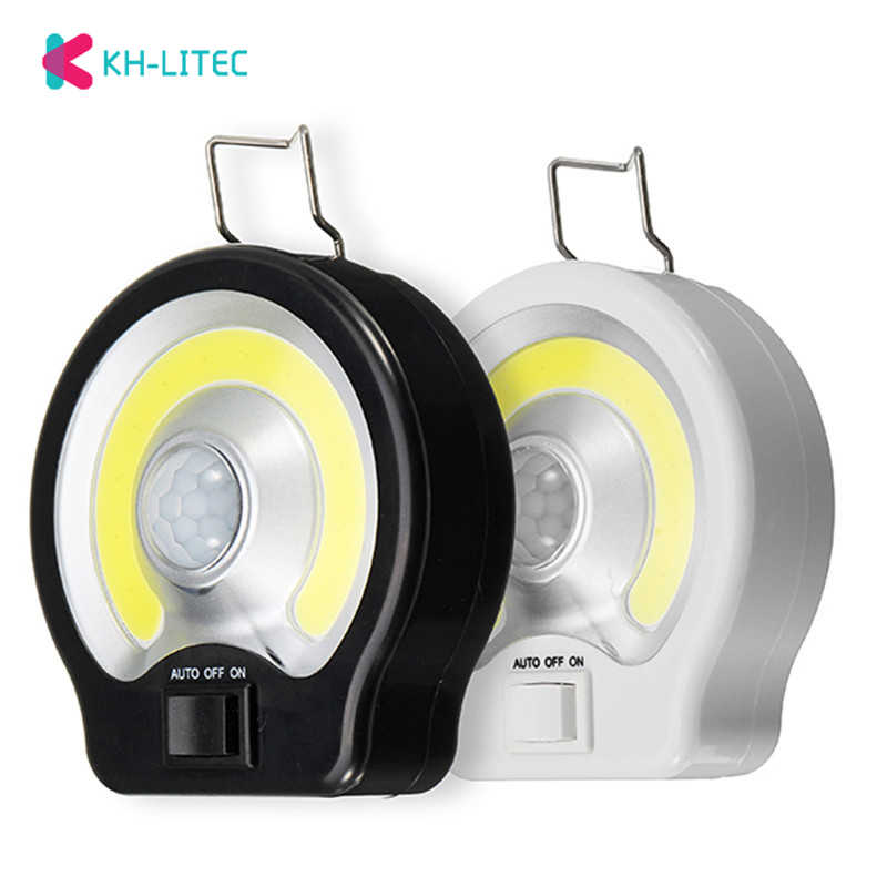 Mini PIR COB Motion Sensor LED Night Lights Wireless Magnetic Cabinet Light Battery Powered Closet Bedroom Led Wall Lamp