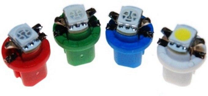 10Pcs B8.5D 509T B8.5 5050 Led 1 SMD T5 Lamp Car Gauge Speedo Dash Bulb Dashboard instrument Light Wedge Interior Lamp