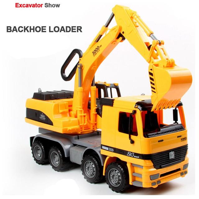 Gran Modelo de Camión Excavadora de Simulación, nuevo Diseño De Plástico Modelo de Vehículo Juguetes para Boy Regalo de Cumpleaños, envío Gratis