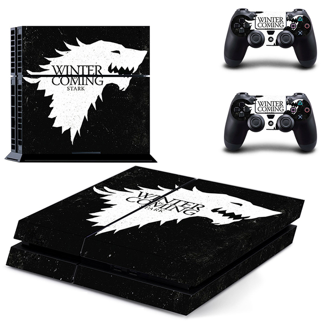 HOMEREALLY PS4 Skin Game Thrones Winter is Coming Stark Sticker Wrap For Sony PlayStation 4 Console and Controller Ps4 Accessory 2