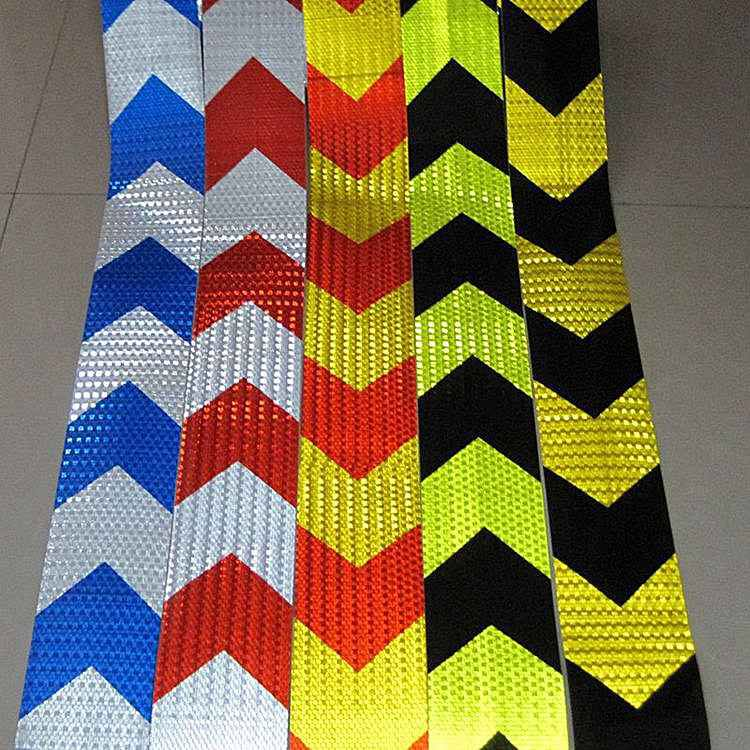 1M Long Self-adhesive PVC Reflective Safety Tape Road Traffic Construction Site Reflective Sign 5cm 50m orange reflective pvc arrow mark warning tape self adhesive reflective safety sign road traffic guidepost adhesive film page 1