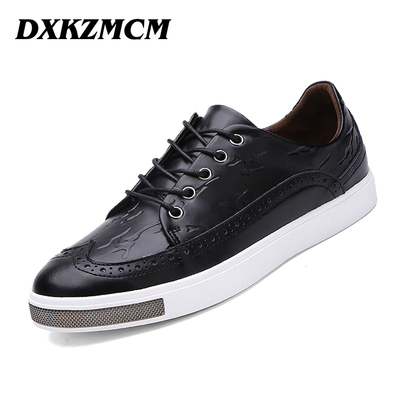 DXKZMCM High Quality Genuine Cow Leather Men Oxfords Shoes, Bullock Men Loafers, Mocasines Hombre Brand Men Flats dxkzmcm new men flats cow genuine leather slip on casual shoes men loafers moccasins sapatos men oxfords