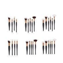 4/5/6pcs Makeup Brushes Set for Eye Shadow Eyebrow Lip Eyelash Brush Professional Oval handle Makeup Brush Tools T04025 professional eye brush 6pcs