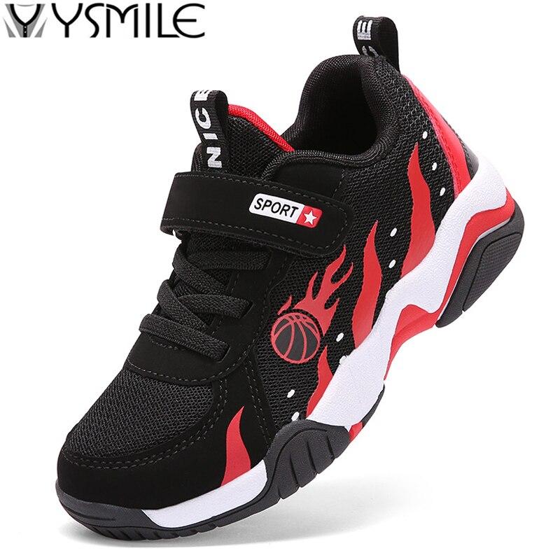 Нескользящие дышащие детские кроссовки для мальчиков, Баскетбольная обувь для детей, спортивная обувь для активного отдыха, детская тренир...