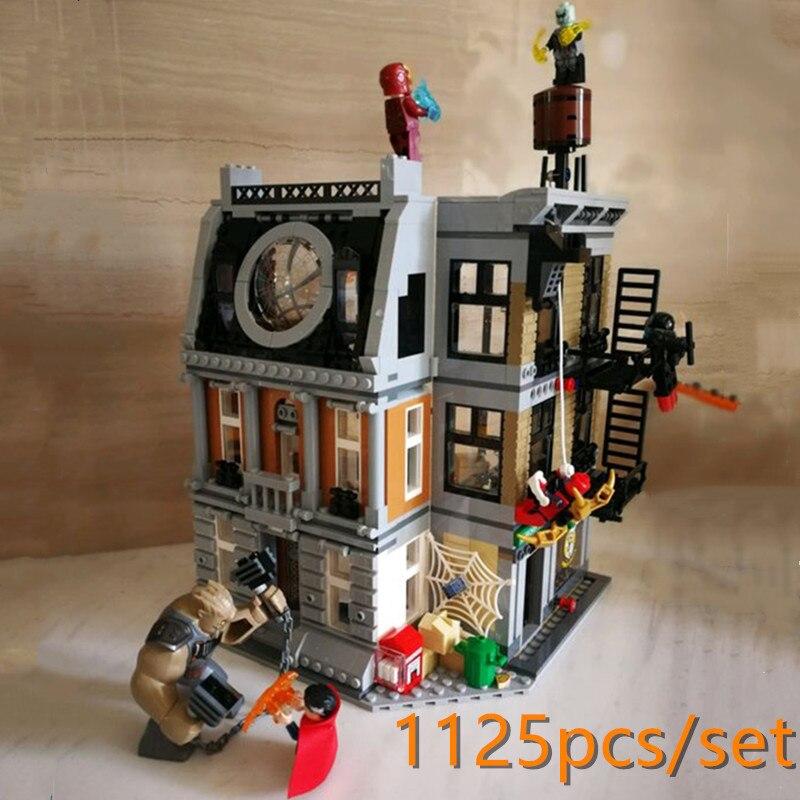 New DR strange Sanctum Sanctorum Showdown fit avengers Infinity war Marvel figures 76108 Building Block Bricks