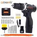 GOXAWEE 12 В двухскоростная электрическая отвертка беспроводная дрель мини беспроводной драйвер питания DC литий-ионный аккумулятор с чехлом дл...