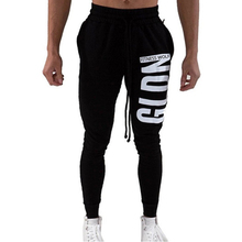 Mens Fitness Wolf Brand Pants 2019 Autumn Letter Print Slim Breathable Sweatpants Casual Gyms Joggers Track Trousers Male pants