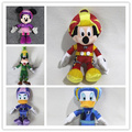 Free shipping 1pcs 20cm Original lovely racer mickey mouse Donald Duck Daisy goofy plush soft doll High Quality Gifts dolls