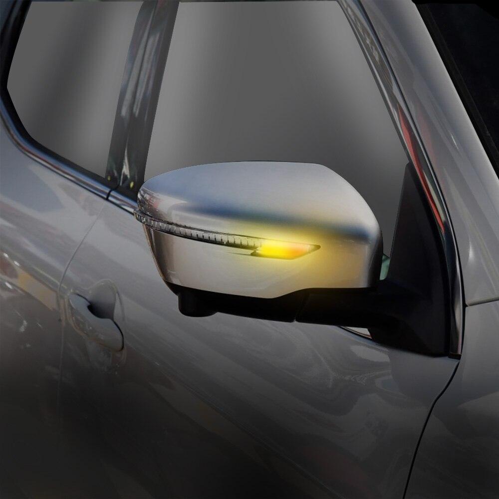 2 peças Dinâmica LED Transformar a Luz do Sinal Indicador Espelho Traseiro Para Qashqai Nissan X Trail-T32 J11 Murano Z52 navara Juke NP300
