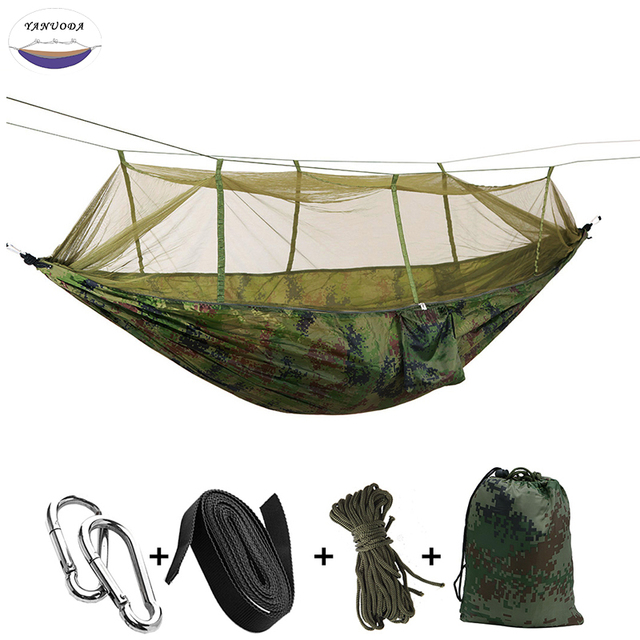 New Ultralight Parachute Hammock Hunting Mosquito Net Double Person drop-shipping Outdoor Furniture Hammock