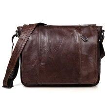 Nesitu Vintage 100% Garantie Echt Haut Aus Echtem Leder Rindsleder Männer Messenger Bags # M7338