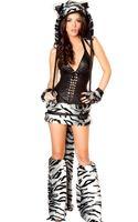 Hot Koop Sexy Tiger Kostuums Voor Vrouwen Gratis Verzending Mooie Halloween Furry Animal Kostuums Deluxe White Tiger Kostuum